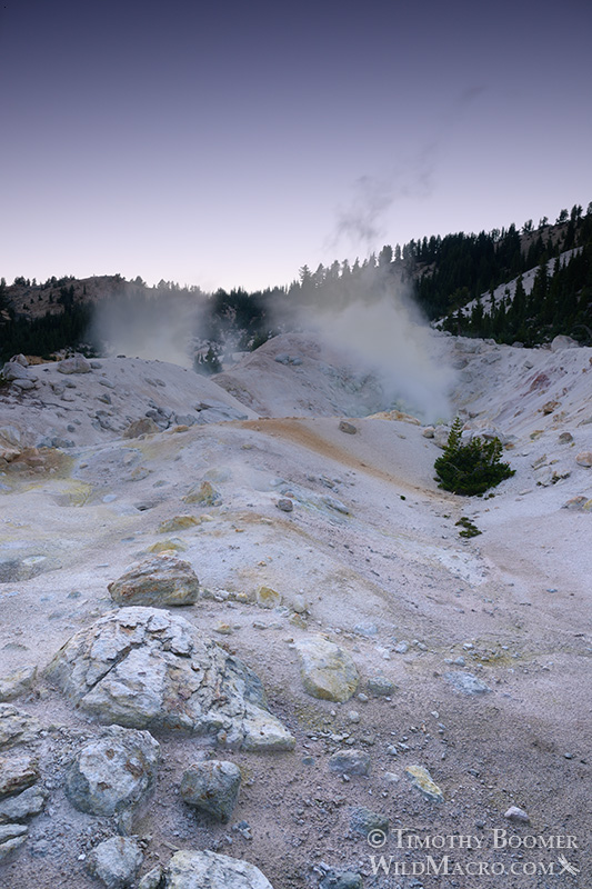 Bumpass Hell, Lassen Volcanic National Park's most impressive hydrothermal area.  Stock Photo ID=SCE0137