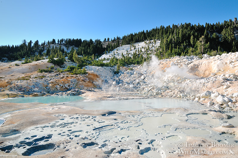 Bumpass Hell, Lassen Volcanic National Park's most impressive hydrothermal area.  Stock Photo ID=SCE0138